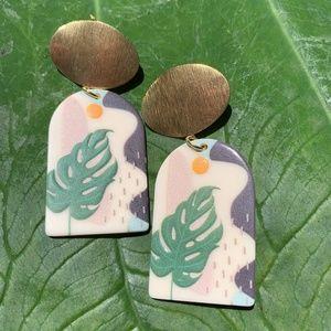 Acrylic Art Stud Earrings